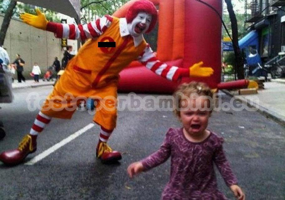 E' sconsigliato l'intervento degli animatori mascherati da clown o l'intervento dei cosplayer durante le feste. Perché?